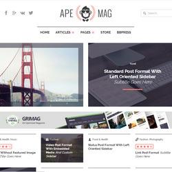 Блоговые журнальные шаблоны WordPress оптимизированные под Adsense рекламу