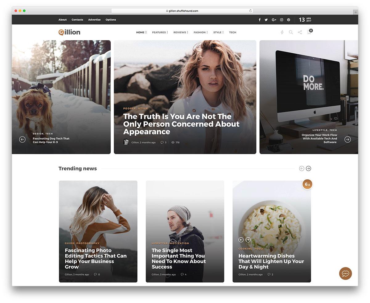 Популярная многоцелевая тема WordPress для журналов и блогов