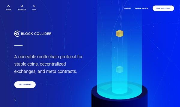 Пример применения анимированной SVG графики в дизайне современного сайта blockcollider.org