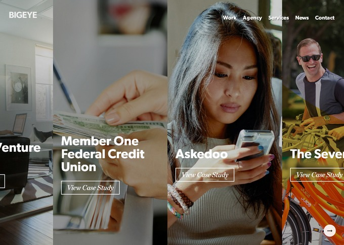 Современный web дизайн в плоском стиле - пример красивого применения модных трендов на сайте рекламного и маркетингового агентства