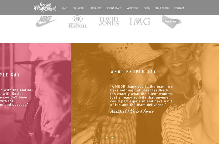 Модный дизайн веб-сайта с эффектным наложением цвета
