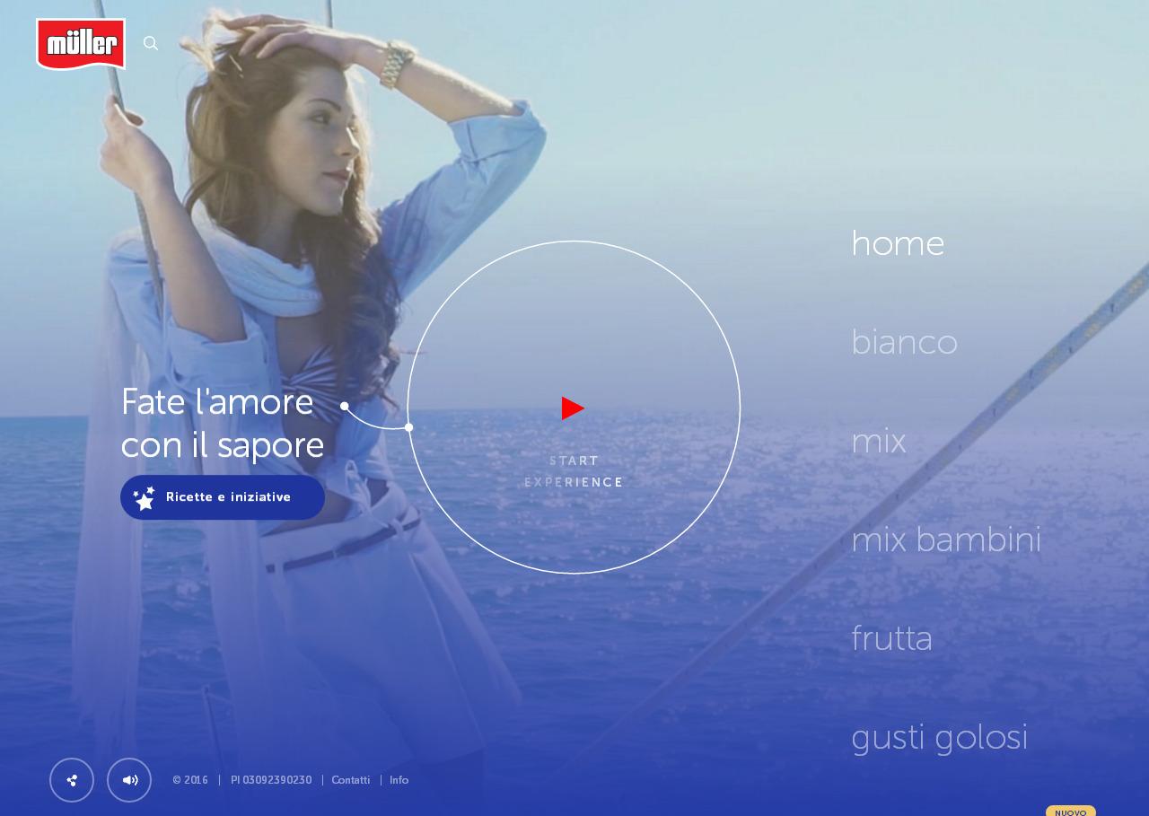 Сайт итальянского продуктового бренда со стильным современным дизайном