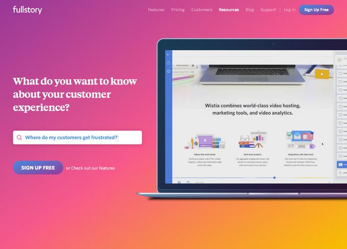 Красивый пример использования двухцветных градиентов в современном веб-дизайне