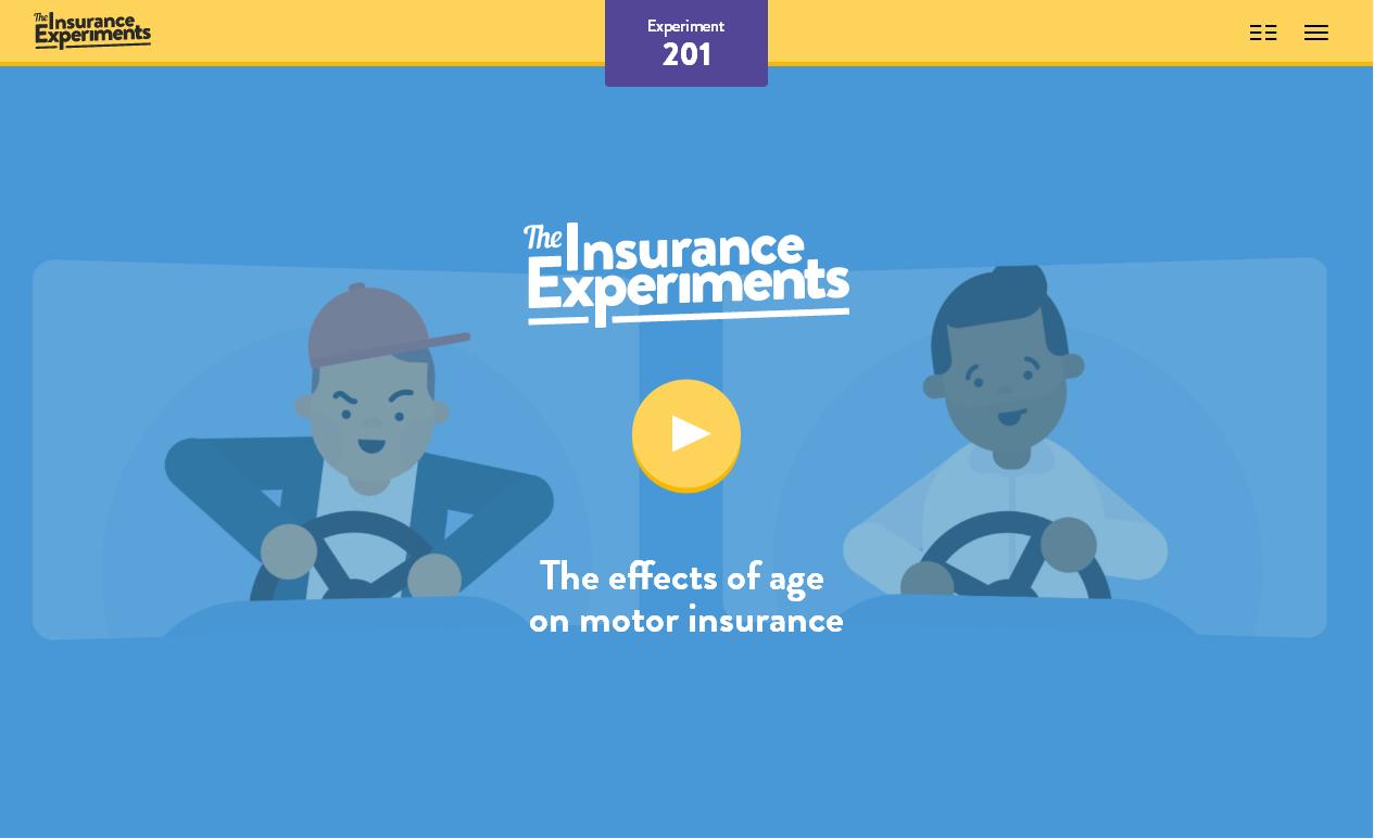Хорошие примеры сайтов с анимацией: промо-проект компании страховщиков - insuranceexperiments.org.uk