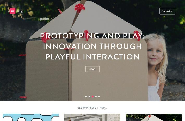 Примеры корпоративных блогов с карточным дизайном