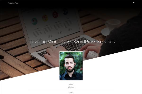 Фотографам, дизайнерам, разработчикам: качественный бесплатный WordPress шаблон для создания портфолио