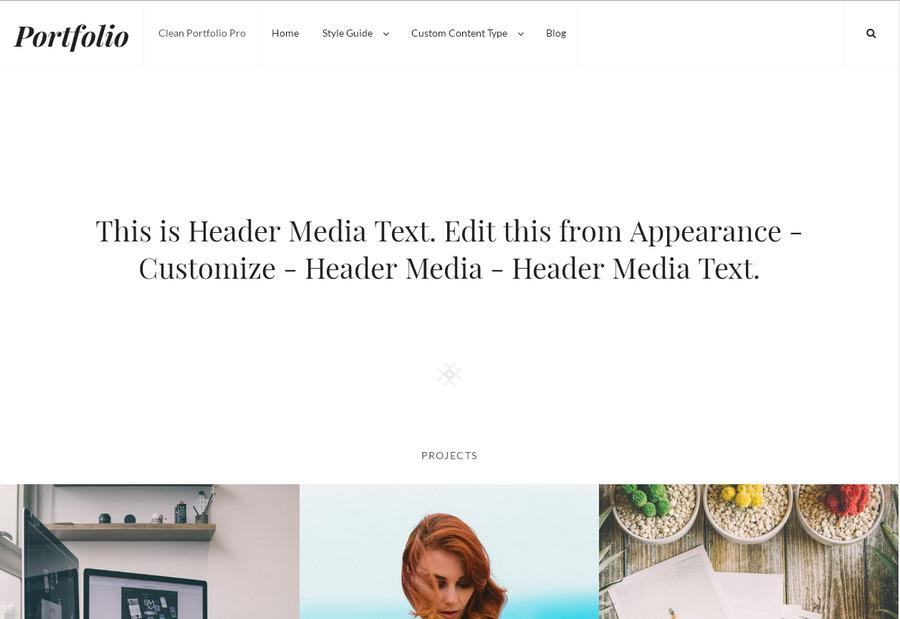 Стильная и бесплатная WordPress тема для создания портфолио