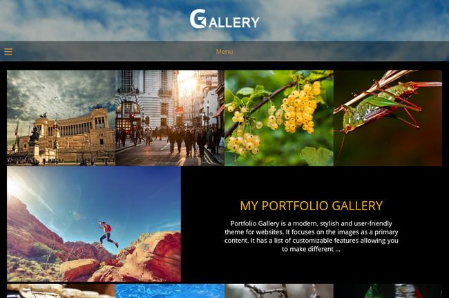 Portfolio Gallery – красивая бесплатная WordPress-тема для бизнеса, фотографов или портфолио-сайта