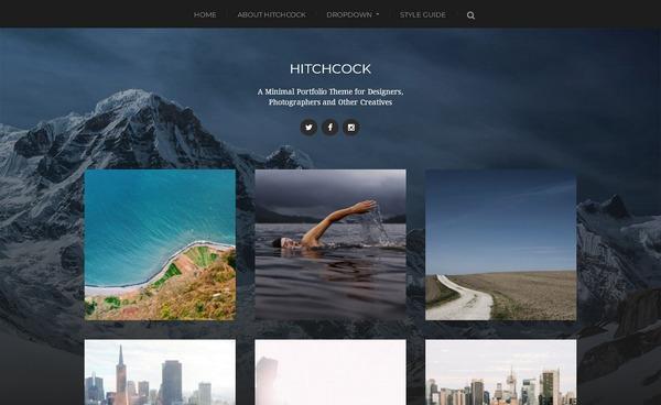 80+ wordpress шаблонов: бесплатная портфолио тема вордпресс для дизайнеров и фотографов – Hitchcock