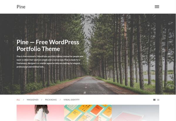 Бесплатная тема портфолио WordPress с минималистичным дизайном