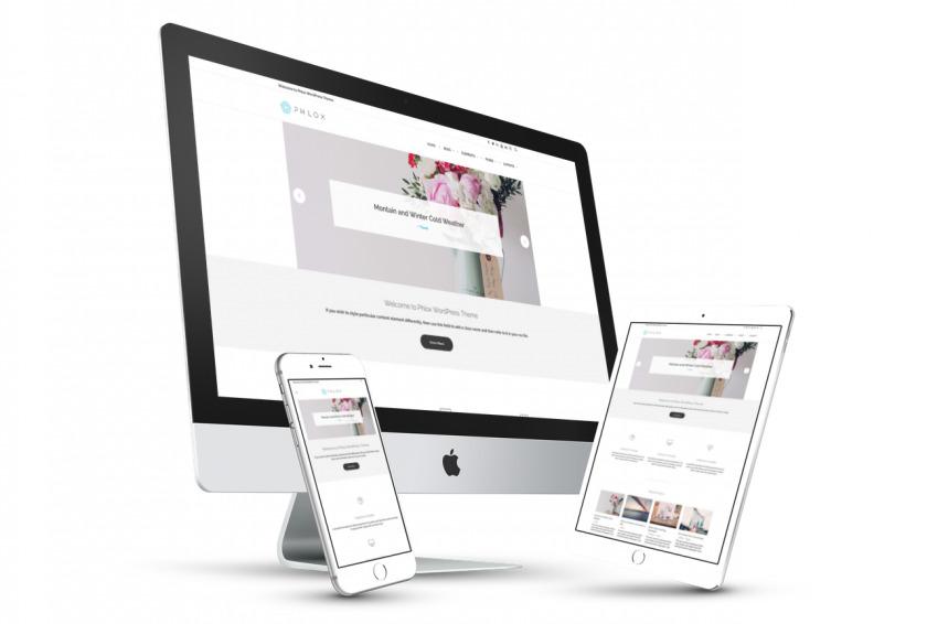 Бесплатная многоцелевая WordPress тема для творческого портфолио и сайта бизнеса – PHLOX