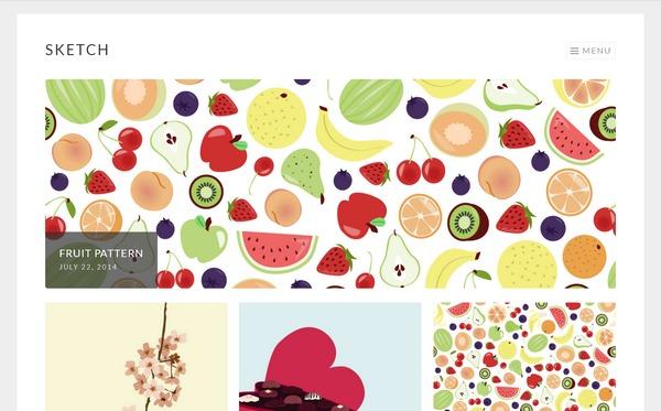 Креативный бесплатный wordpress шаблон для портфолио и сайтов фотографов, дизайнеров, иллюстраторов