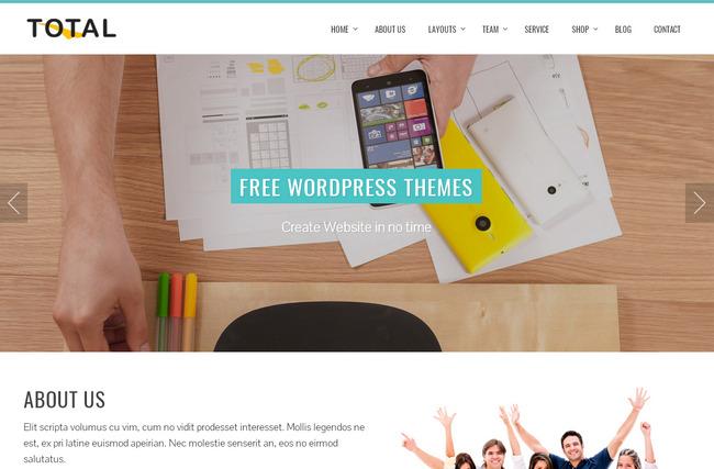 Популярный бесплатный шаблон портфолио wordpress