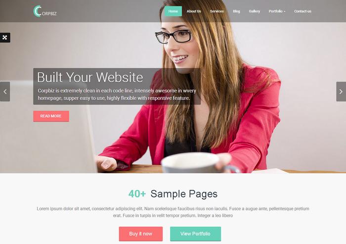Bootstrap & WordPress тема с современным функционалом для создания портфолио и бизнес сайта
