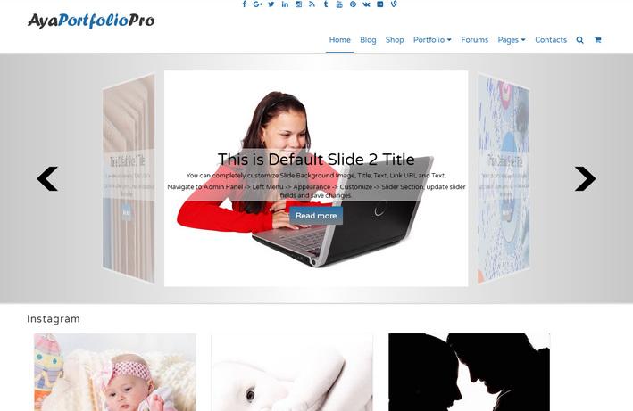 Красивая бесплатная портфолио-тема WordPress, подойдет для оформления бизнес презентаций на сайте