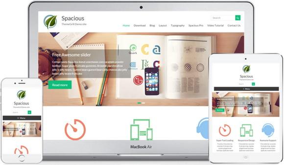 Бесплатные портфолио шаблоны: красивая и вместительная многоцелевая тема оформления WordPress - Spacious
