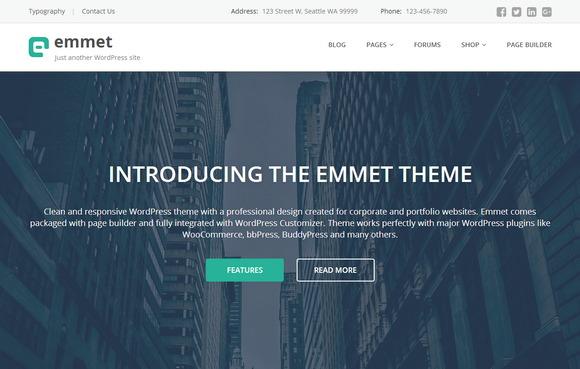 Бесплатный портфолио-шаблон WordPress с профессиональным дизайном для корпоративного сайта или агентства