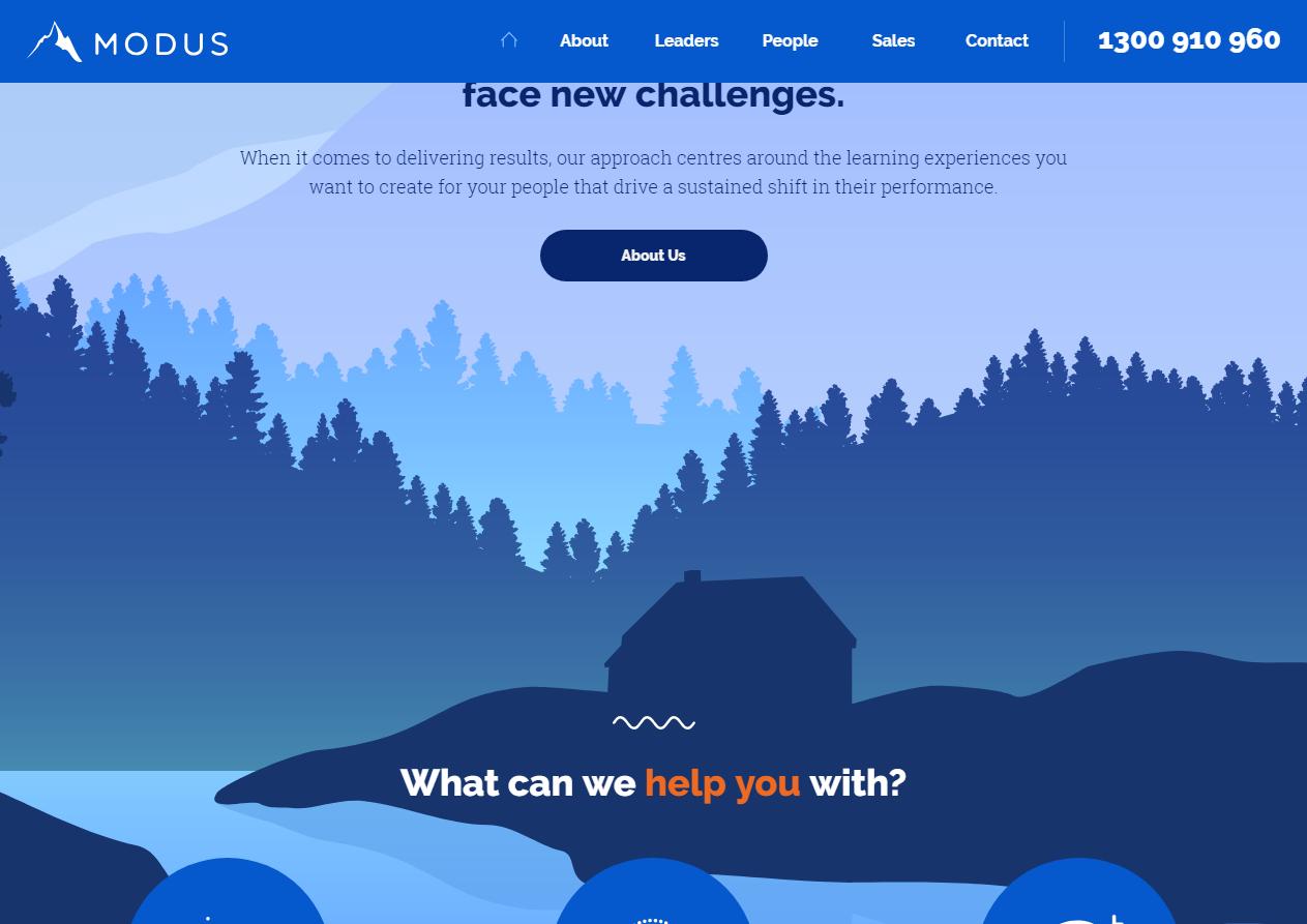 Красиво иллюстрированный сайт