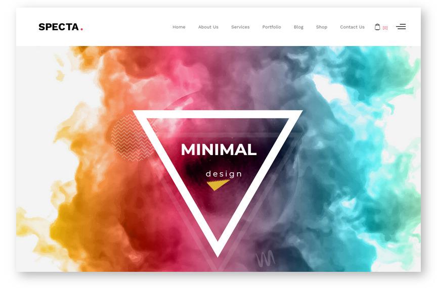 Specta – лучшая WordPress тема для портфолио