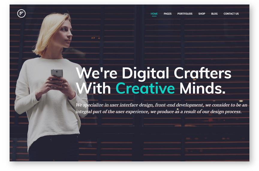 Fraxos – новая портфолио-тема WordPress