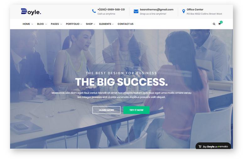 Doyle – креативный шаблон WordPress для продающего портфолио