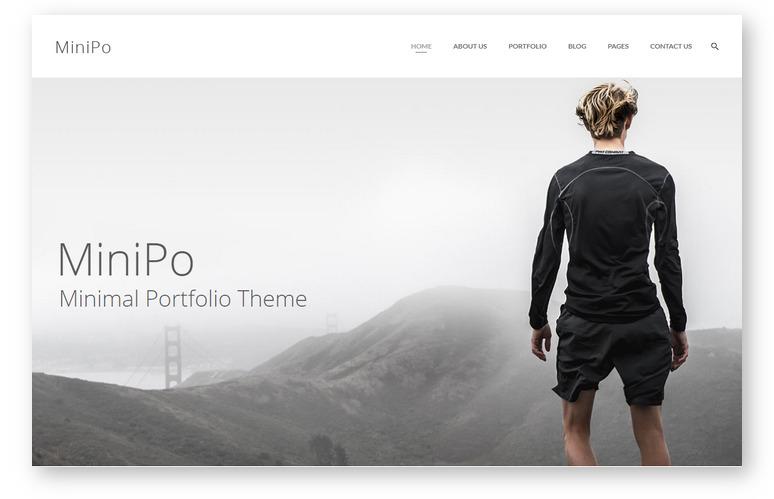 Тема для персонального сайта – MiniPo