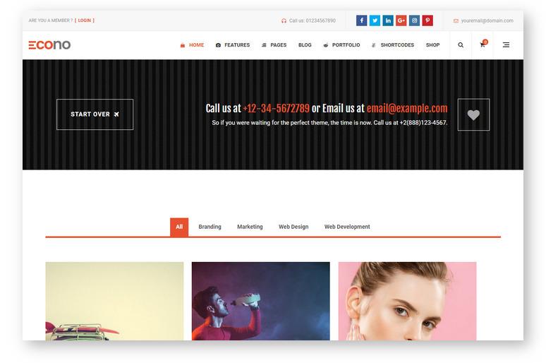 Многоцелевая WordPress тема для построения креативных сайтов
