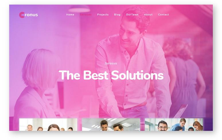 Портфолио шаблоны WordPress на основе Bootstrap: новая тема для создания креативного корпоративная сайта