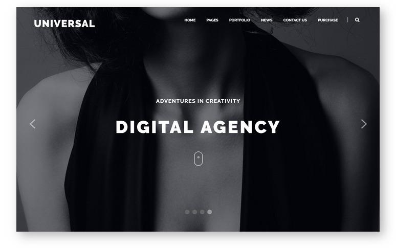 Корпоративная тема WordPress для создания делового портфолио – Universal