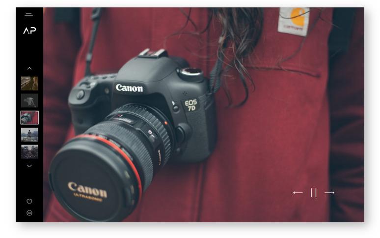 WordPress тема для портфолио фотографа