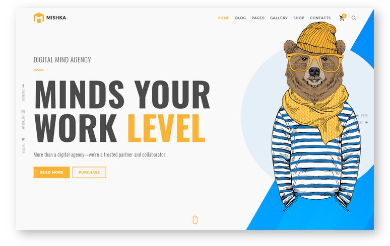 Mishka – WordPress шаблон для сайта креативного фотографа