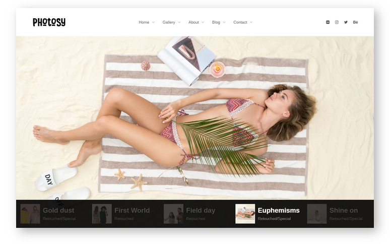 Photosy Photography – мощная и эстетически привлекательна тема WordPress для корпоративных сайтов, креативных фрилансеров и фотографов