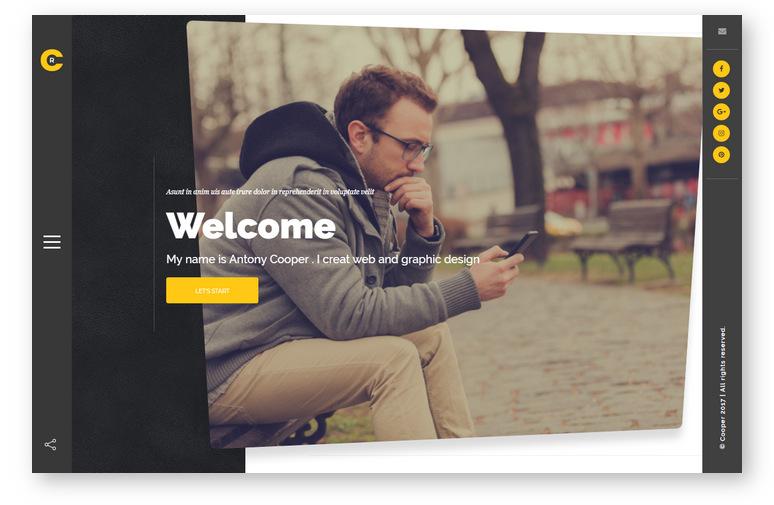 WordPress тема для творческого портфолио