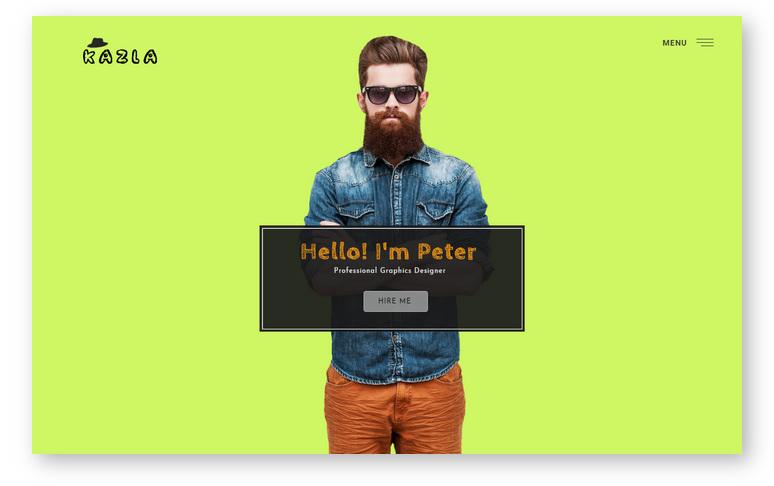 Kazla – портфолио шаблон WordPress для визитной карточки и резюме