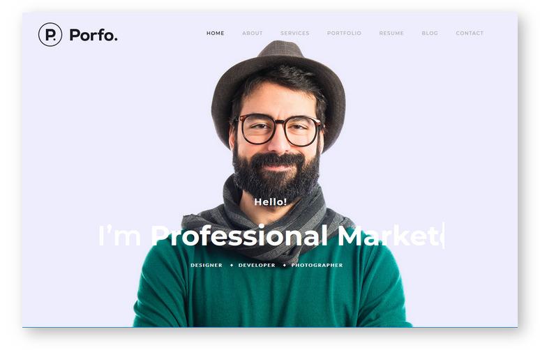 Porfo – шаблон для персонального сайта креативного профессионала