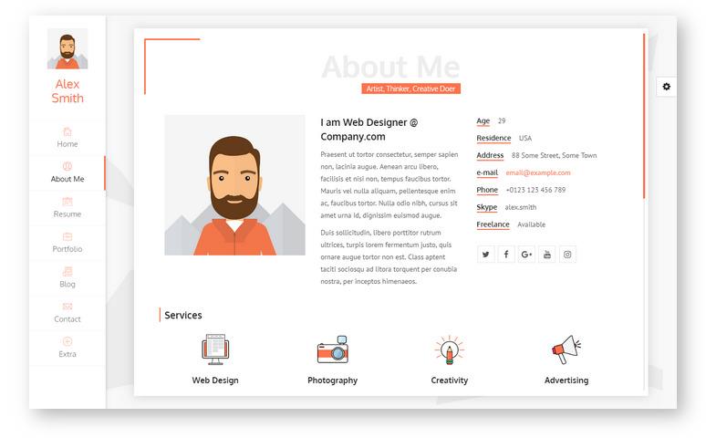 Unique – тема WordPress для персонального резюме и продвинутого портфолио