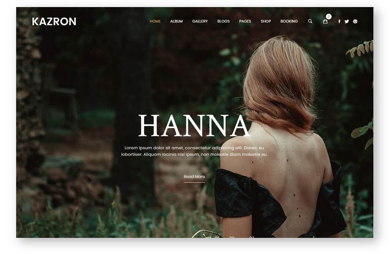 Kazron – новая WordPress тема для портфолио