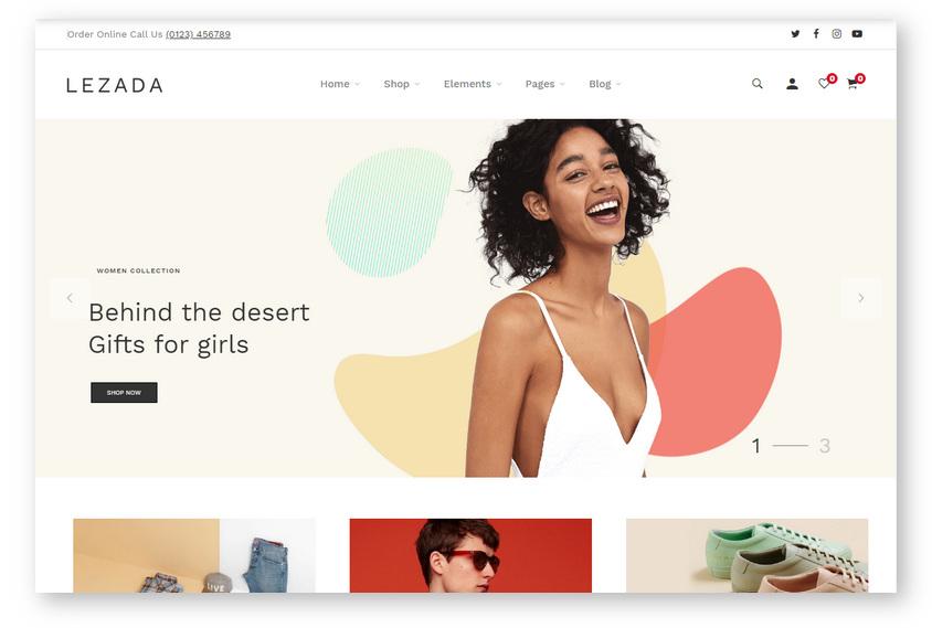 Красивая и современная WooCommerce тема с минималистичным дизайном