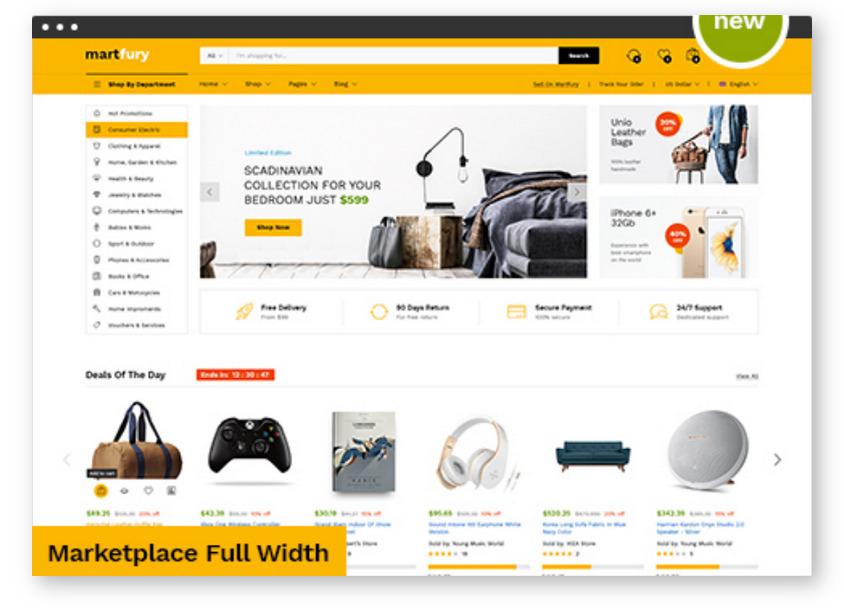 Гибкий WooCommerce шаблон для создания Маркетплейс площадки