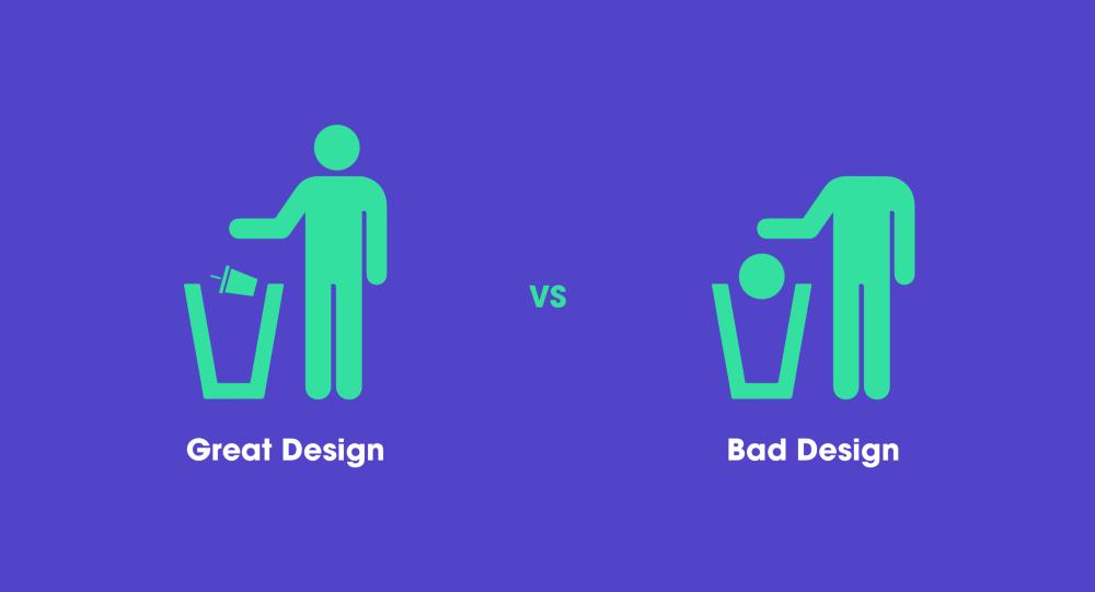 Ошибки при создании дизайна сайта: плохой дизайн Vc хороший дизайн