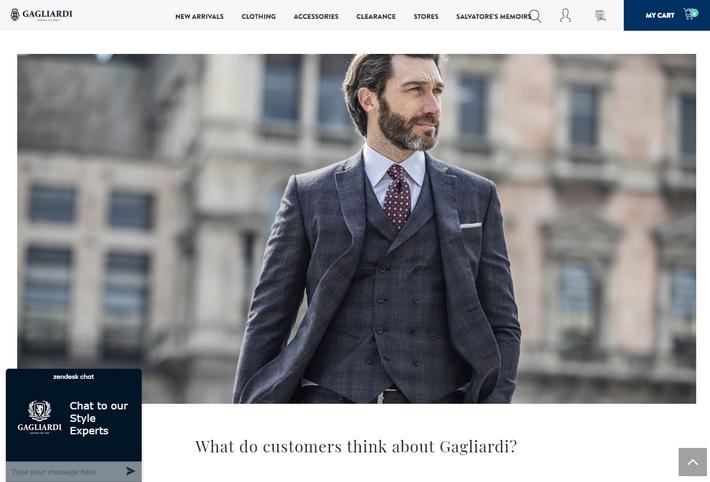 Пример красивого WooCommerce дизайна – интернет магазин одежды и обуви Gagliardi Menswear