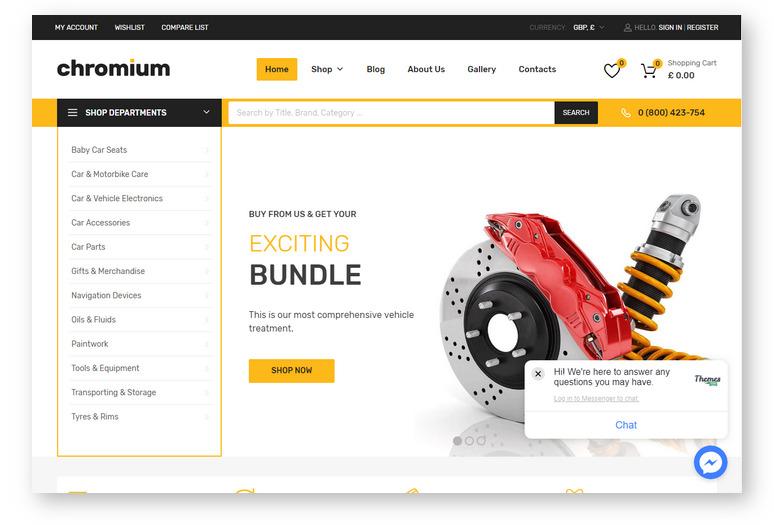 Лучшие шаблоны WordPress для создания интернет-магазина — Chromium