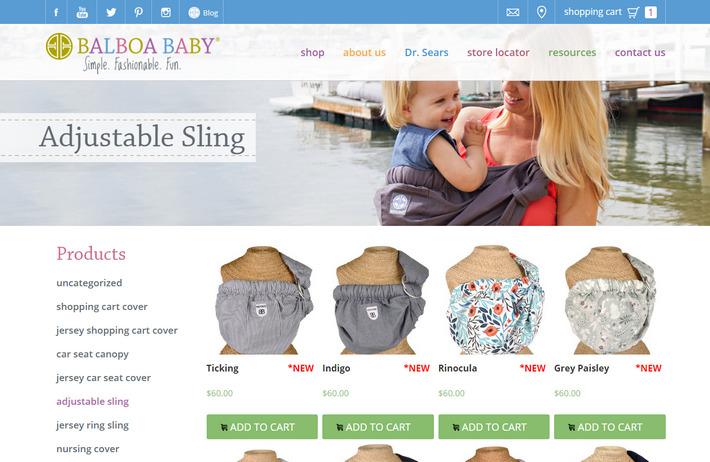 Balboa Baby - пример привлекательного дизайна WooCommerce магазина детских товаров