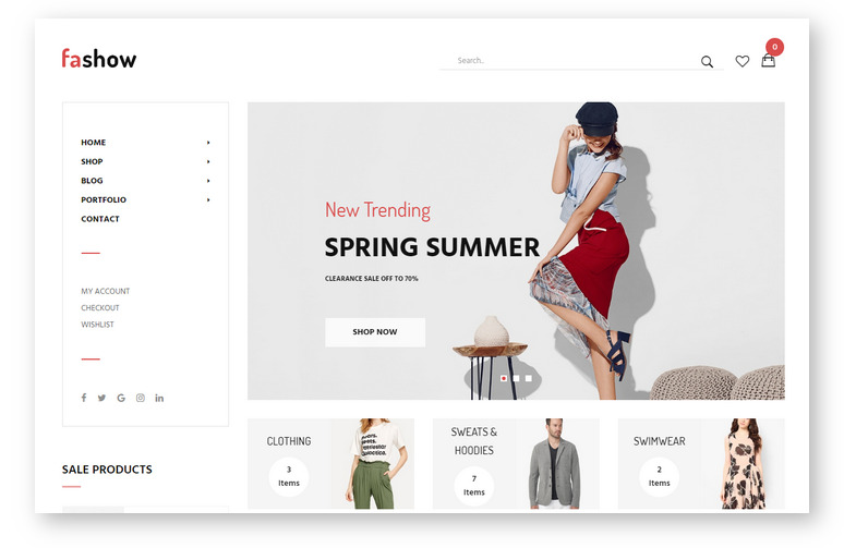 Fashow - Stylish WordPress Theme for Online Clothing Store Profile