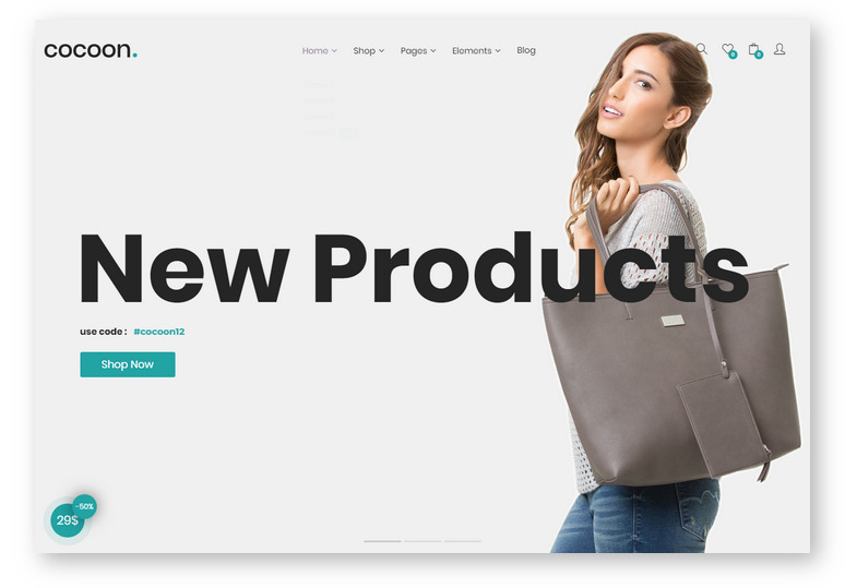 Шаблоны WordPress для интернет-магазина: Cocoon — e-Commerce тема на Bootstrap 4