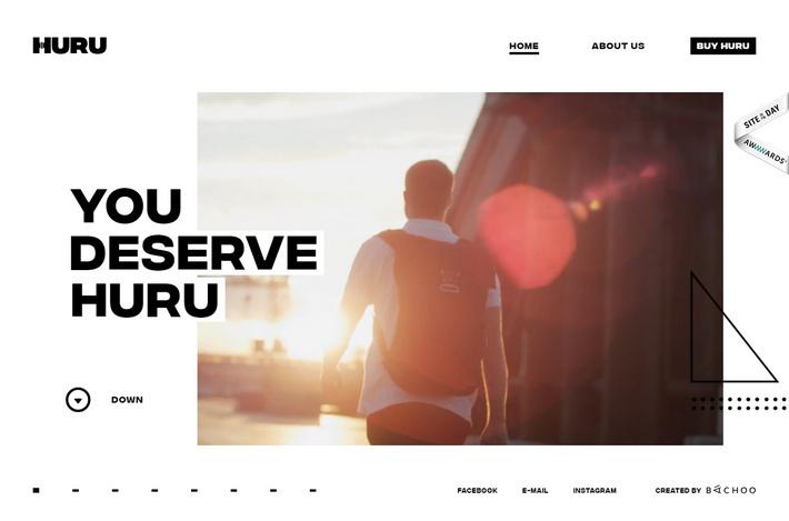 Пример интернет-магазина одного товара с нестандартным и стильным дизайном