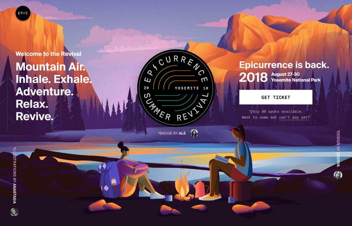 Веб-дизайн тренды 2019: эффект присутствия с параллаксом, добавляющим глубину иллюстрации