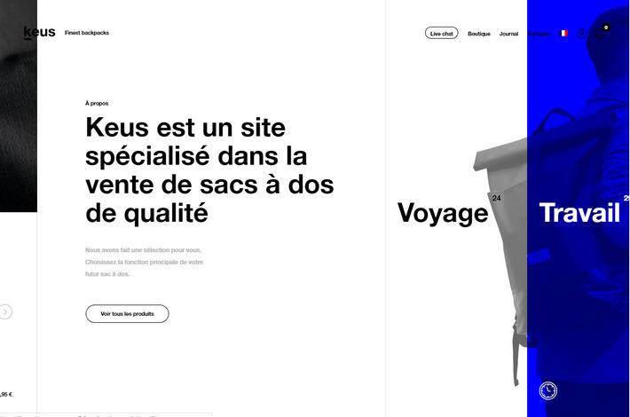 Тренды в веб-дизайне 2019: лейаут с горизонтальной прокруткой контента