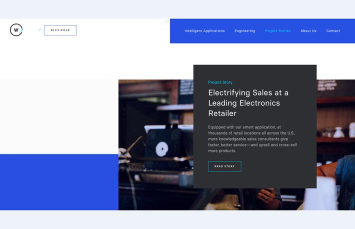 Трендовое направление: плоский дизайн сайта с перекрывающими друг друга элементами