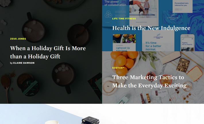 Актуальный веб-тренд: разделенный экран в плоском дизайне - сайт zeusjones.com